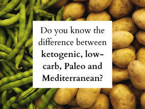 Do you know the difference between Keto, Paleo, Low-carb, and Mediterranean?