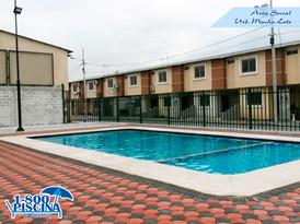 Area Social con piscina 13 x 6 mt con area de niños.
