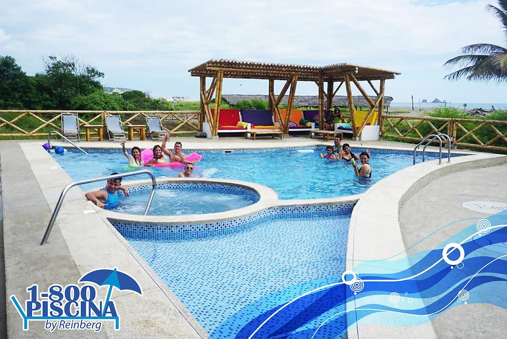 Construcción de piscinas y jacuzzi en Manabí