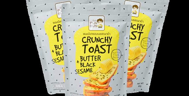 ขนมปังเนยสดอบกรอบ รสเนยสดงาดำ 70 g ( 3 ถุง/แพ็ค )