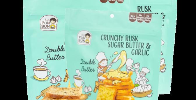ขนมปังเนยสดอบกรอบ รสเนยสดกระเทียม 40 g ( 3 ถุง/แพ็ค )