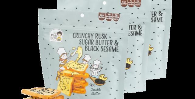 ขนมปังเนยสดอบกรอบ รสเนยสดงาดำ 40 g ( 3 ถุง/แพ็ค )