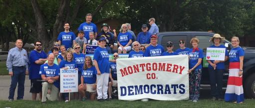 Iowa Montgomery County Democrats at Labor Day Parade