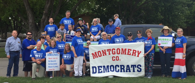 Iowa Montgomery County Democrats at Labor Day Parade