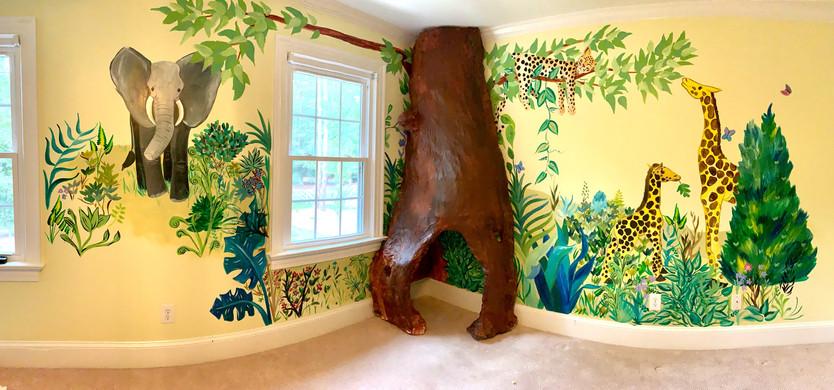 Children's Bedroom - Tree and Mural