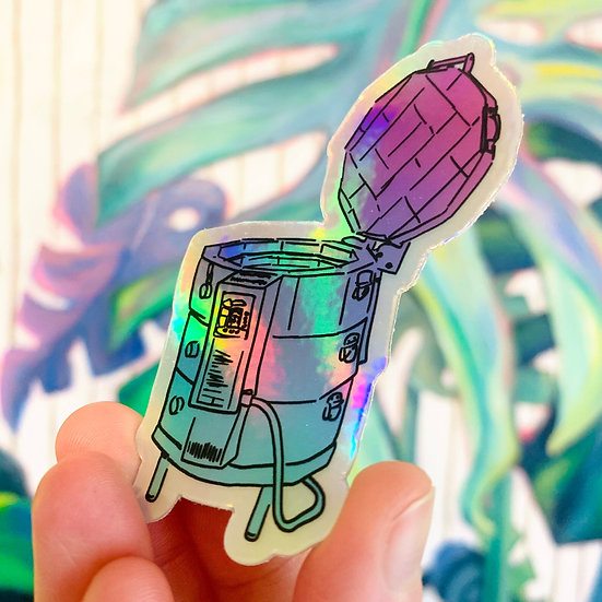 Holographic kiln Pottery Tool Sticker for potters and ceramic artist