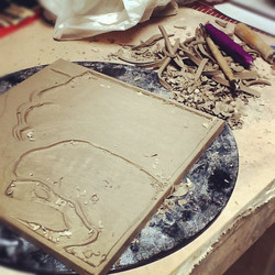 Ceramic Tile Carving