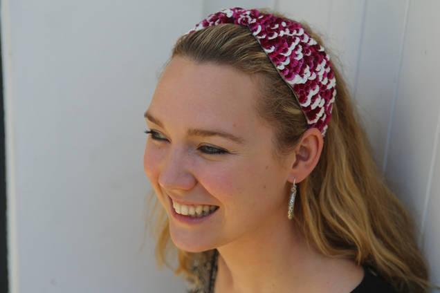 Pressed flower headdress