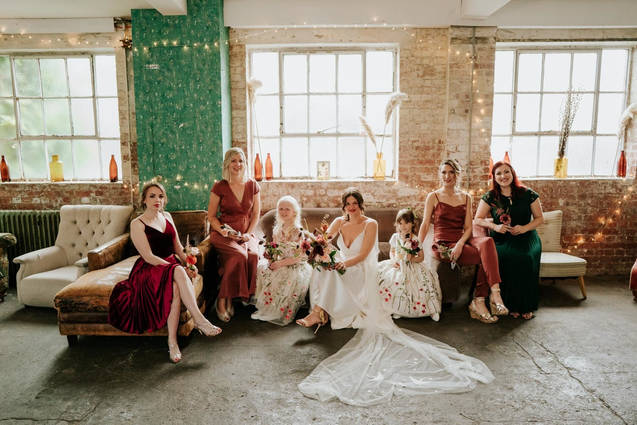 Esther and her bridesmaids - One friendly place