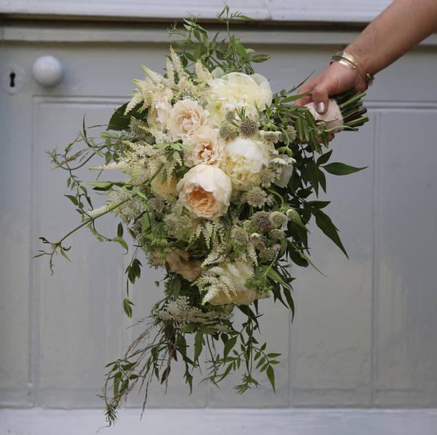 Nancy's bridal bouquet