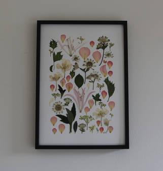 Pressed wedding flowers