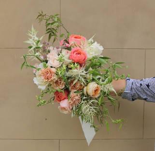 July bridal bouquet