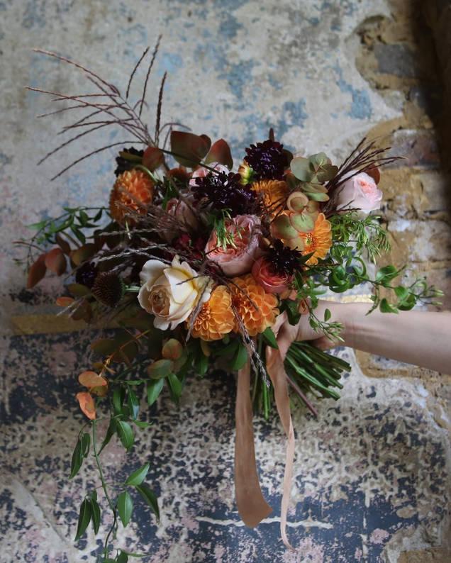 Rachel's autumnal bridal bouquet