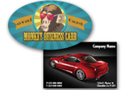 "ALL INCLUSIVE PRICING 2"" X 3.5"" 14PT Business Cards UV on 4-color side(s)"