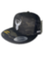 Bold Buck Hat Black Multi Cam Side and F