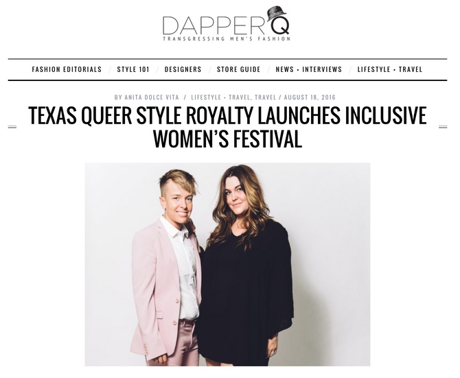 """Texas Queer Style Royalty"" Feature in Dapper Q."