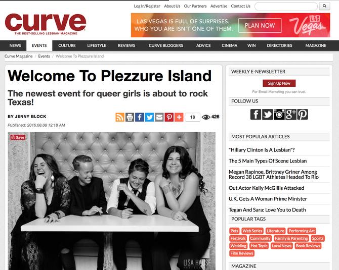 Feature in CURVE Magazine!
