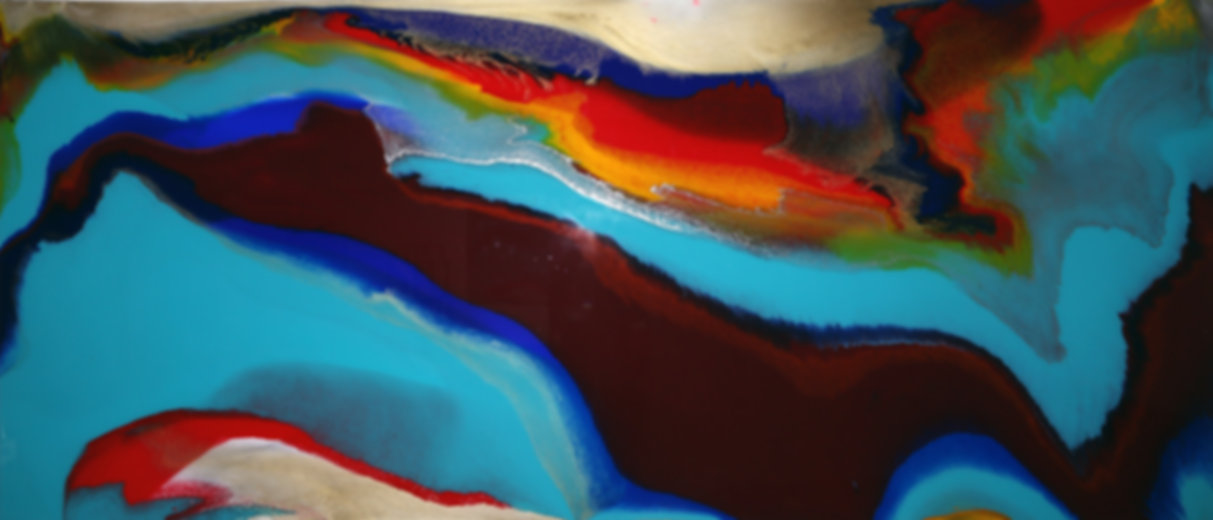 Original Painting On wood panel with resin and pigment
