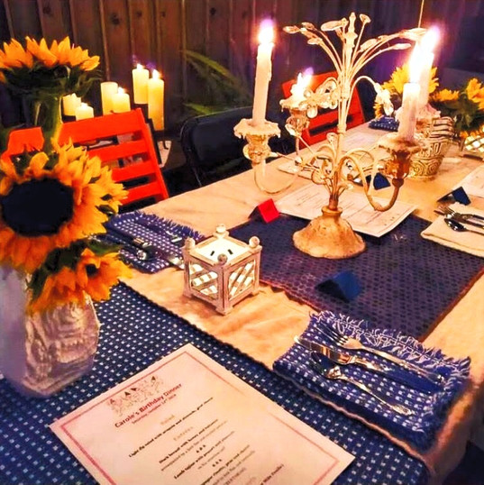 Dinner at the table