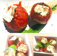 Tomatoes stuffed with spinach, parmesan ..
