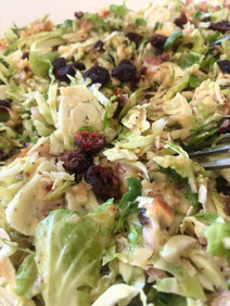 Brussels sprouts salad, apples, cranberries, honey ...