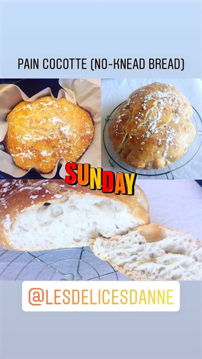 Pain Cocotte (No-knead bread)
