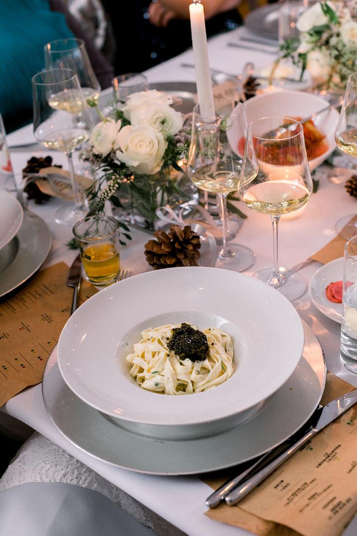 Tagliatelle with Ossetra Caviar