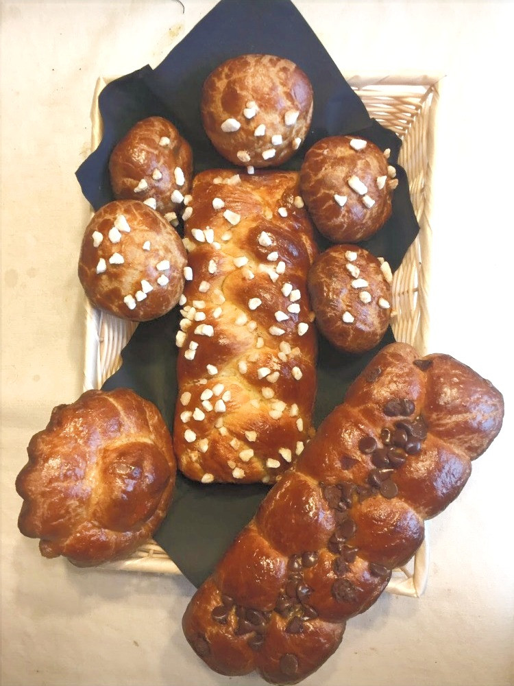 Various French brioches