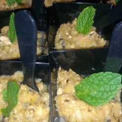 Velvety of zucchini, mint & feta