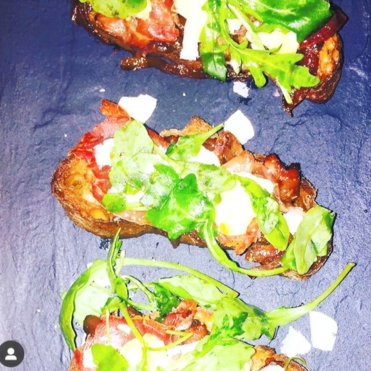 Crostinis with Parmo and Figs