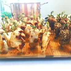 Marinated chicken skewers (yakitori teri
