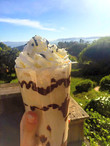 Frappuccino with banana, vanilla & chocolate