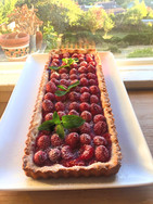 Rhubarb-Raspberry Tart