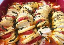 Stuffet zucchini gratin
