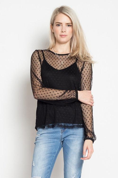 Blusa Transparente de Moda