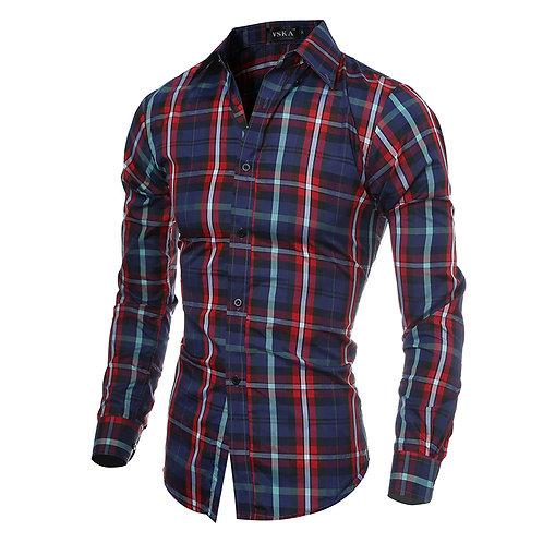 Camisa de hombre estilo escoses.(M)