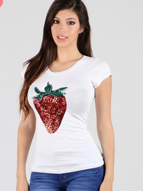 Blusa de Moda Fresas