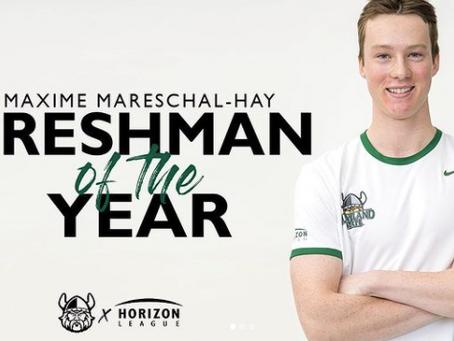 Maxime Mareschal-Hay: Recrue de l'année à sa première saison NCAA