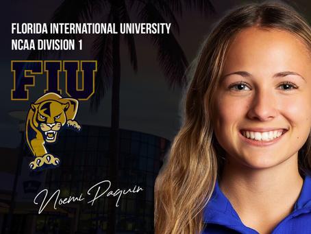 Noémi Paquin se dirige à Florida International University à Miami