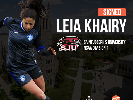 Leia Khairy signs for Saint Joseph's University
