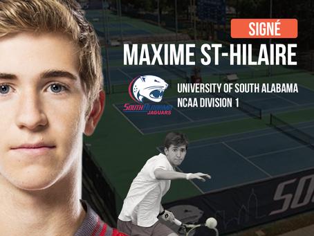 Maxime St-Hilaire signe à University of South Alabama