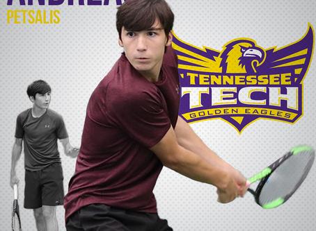 Andreas Petsalis en NCAA Division 1 au Tennessee