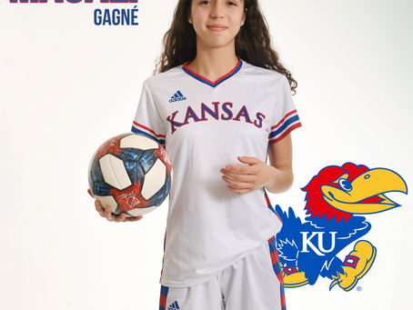 Magali Gagné s'entend avec University of Kansas