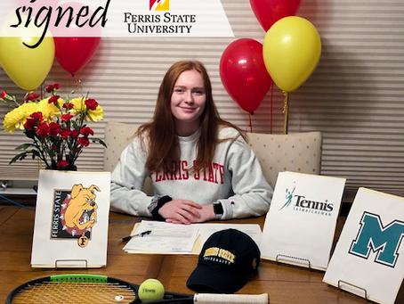 Morgan Waller signe à Ferris State University