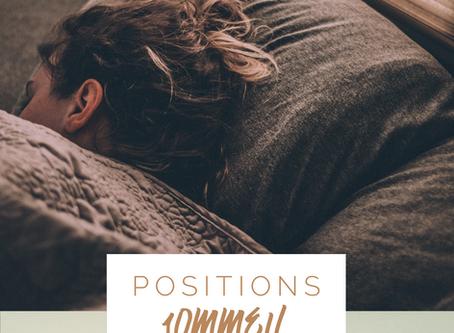 Quelles sont les meilleures positions pour dormir?