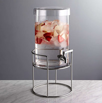 4 COLD DRINK DISPENCER WITH SILVER STAND