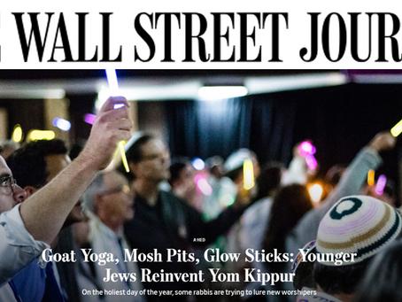Goat Yoga, Mosh Pits, Glow Sticks: Younger Jews Reinvent Yom Kippur