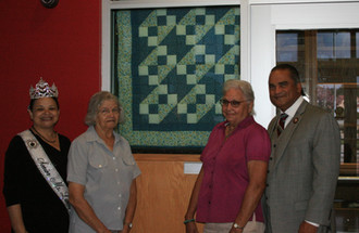 Heritage Haven Elders Present Quilt to Lumbee Tribe
