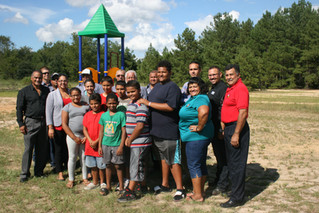 Lumbee Tribe installs playground at Red Hill Apartments