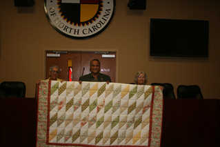 Southern Spirit Elders Present Quilt to Lumbee Tribe